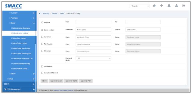 Sales Invoice Summary SMACC Accounting Software Documentation - Sales invoice software